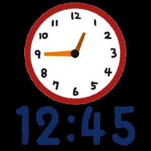 時計12時45分