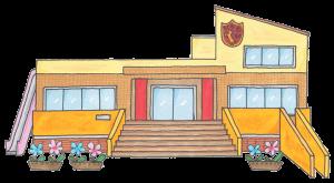 西堀ひかわ幼稚園園舎イラスト